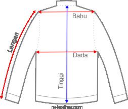 Gambar Pengukuran Jaket Kulit