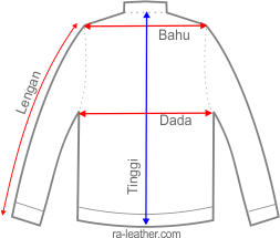 Pengukuran Jaket Kulit Slim Fit