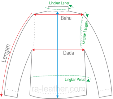 Gambar Ukuran Jaket Kulit