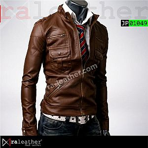 Jaket Kulit Slim Fit JP01049